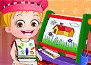 Baby Hazel Learns Colours