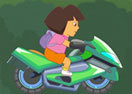 Dora Riding Motorcycle